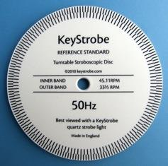 KeyStrobe Reference Standard Turntable Stroboscopic Disc