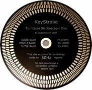 KeyStrobe-au Gold Turntable Stroboscopic Disc