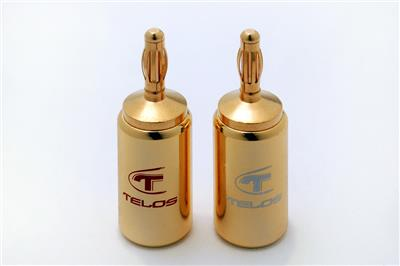 Telos 24k Gold-Plated Banana Plugs (pair)
